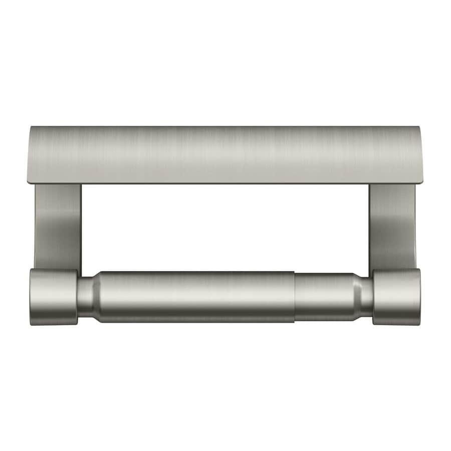 KOHLER Loure Vibrant Brushed Nickel Surface Mount Spring-Loaded Toilet Paper Holder