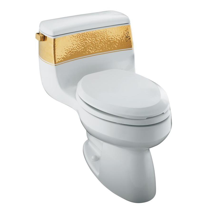 KOHLER Gabrielle White 1.4-GPF (5.3-LPF) 12 Rough-In Elongated 1-Piece Chair Height Toilet