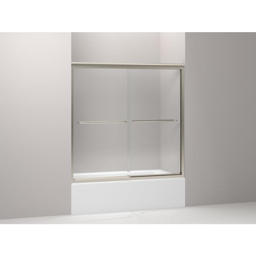KOHLER Fluence 59.625-in W x 58.3125-in H Frameless Bathtub Door