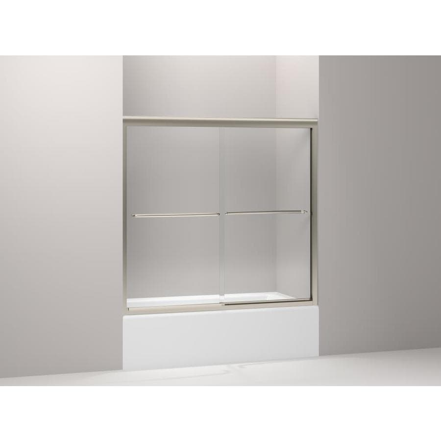 KOHLER Fluence 57-in W x 55.75-in H Frameless Bathtub Door
