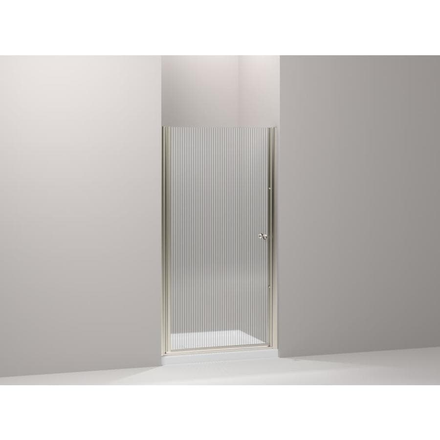 KOHLER Fluence 36.25-in to 37.75-in Frameless Pivot Shower Door