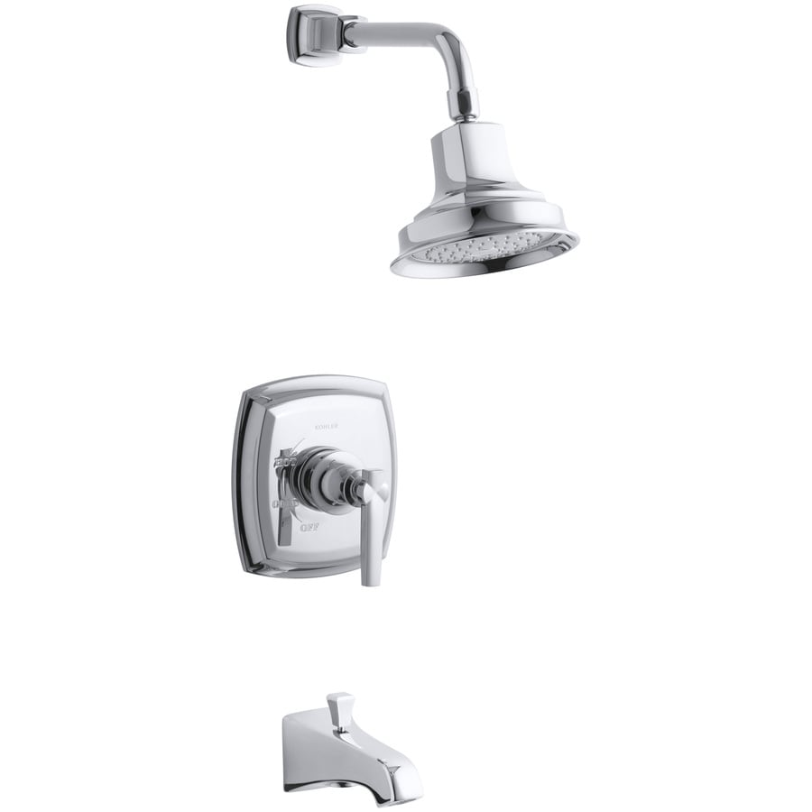 KOHLER Margaux Polished Chrome 1-Handle Bathtub and Shower Faucet Trim Kit with Single Function Showerhead