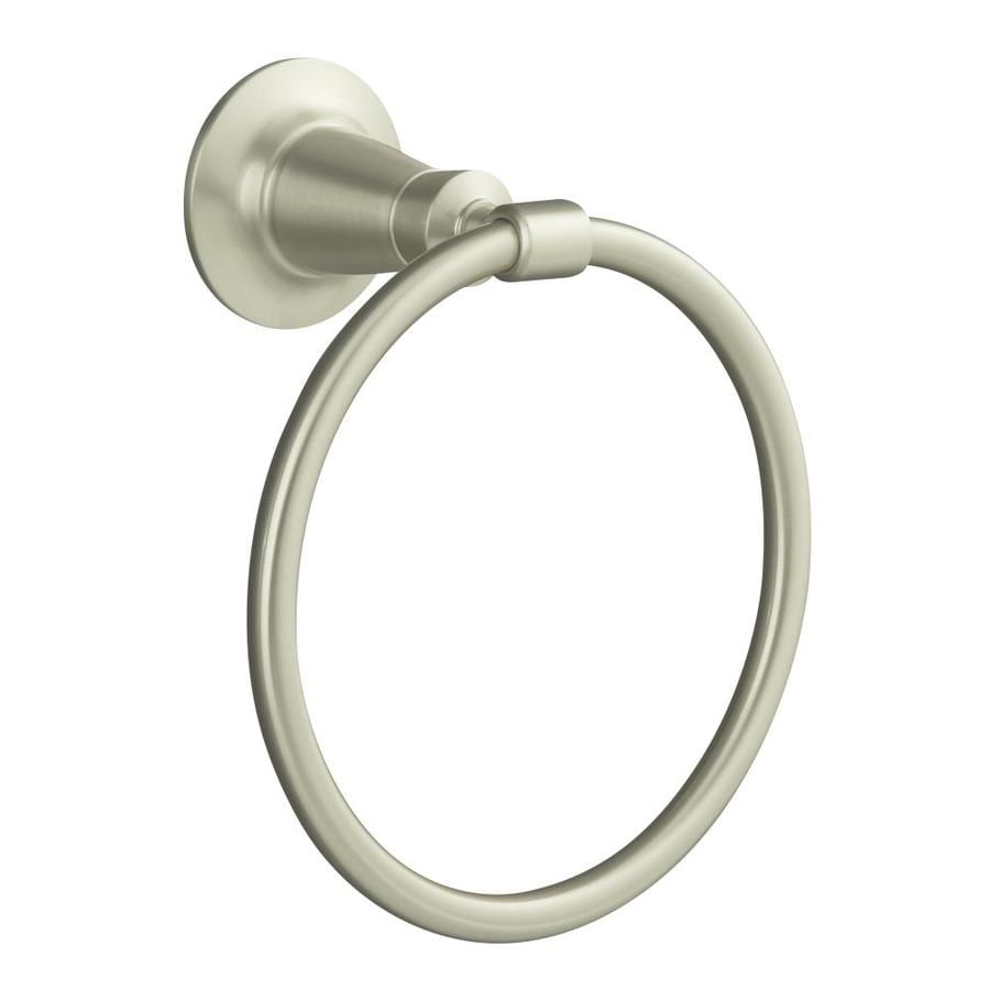 KOHLER Archer Vibrant Brushed Nickel Wall Mount Towel Ring