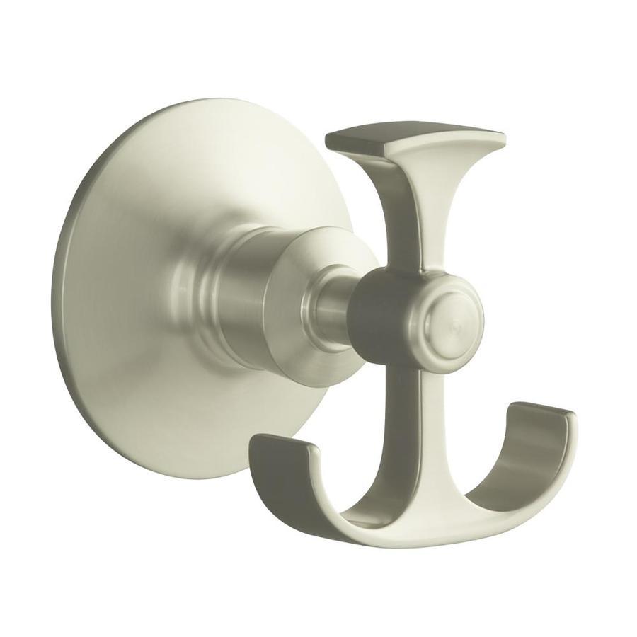 KOHLER Archer 2-Hook Vibrant Brushed Nickel Towel Hook