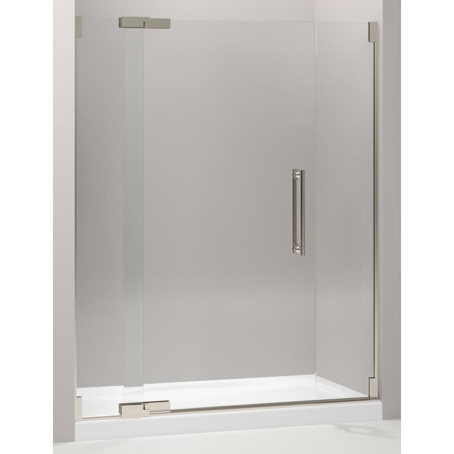 Shop Kohler Purist 57 25 In To 59 75 In Frameless Pivot Shower Door At Lowes Com