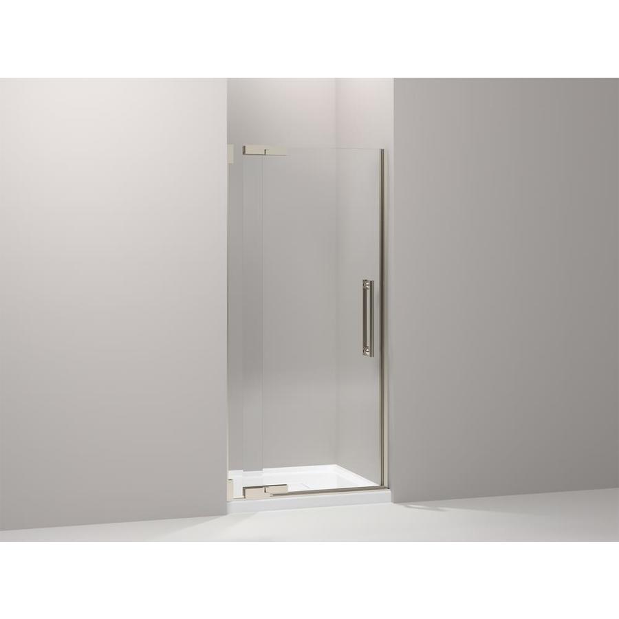 KOHLER Purist 36.25-in to 38.75-in Frameless Pivot Shower Door