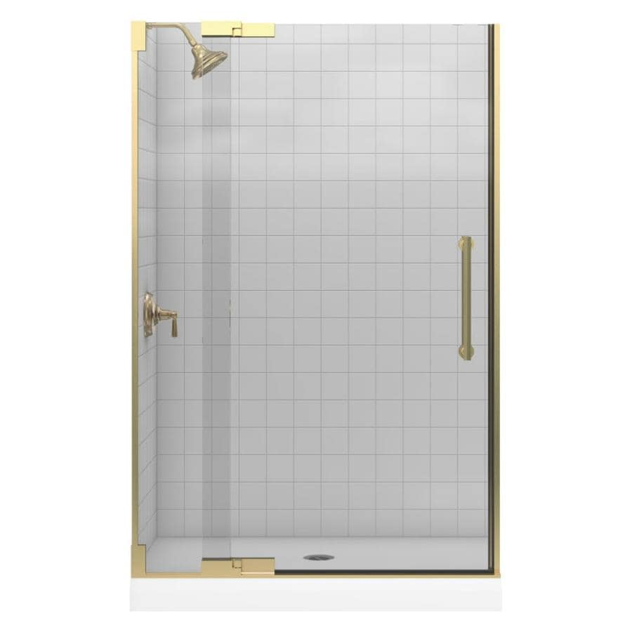 KOHLER Purist 45.25-in to 47.75-in Frameless Pivot Shower Door