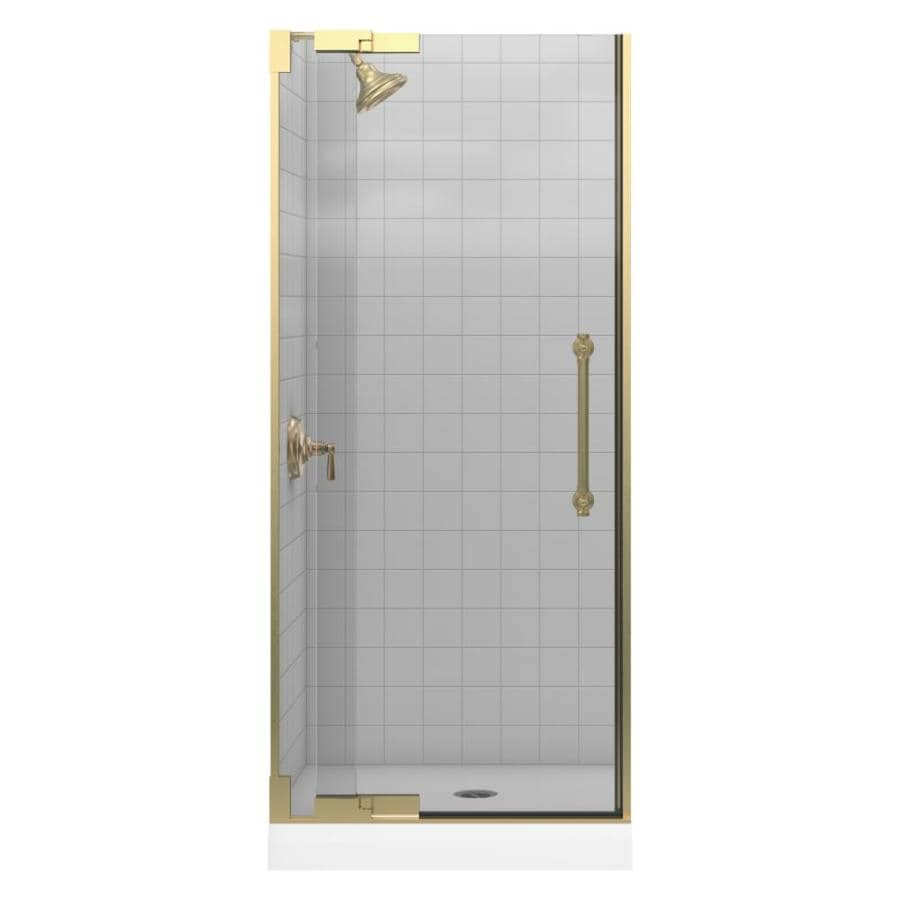 KOHLER Pinstripe 30.25-in to 32.75-in Frameless Pivot Shower Door