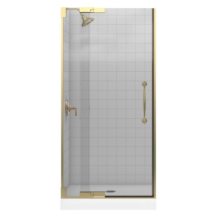 KOHLER Finial 33.25-in to 35.75-in Frameless Pivot Shower Door