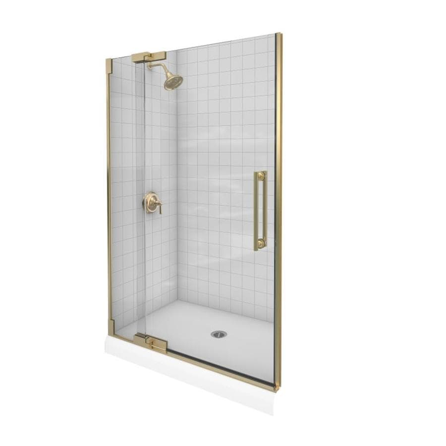 KOHLER Finial 36.25-in to 41.75-in Frameless Pivot Shower Door