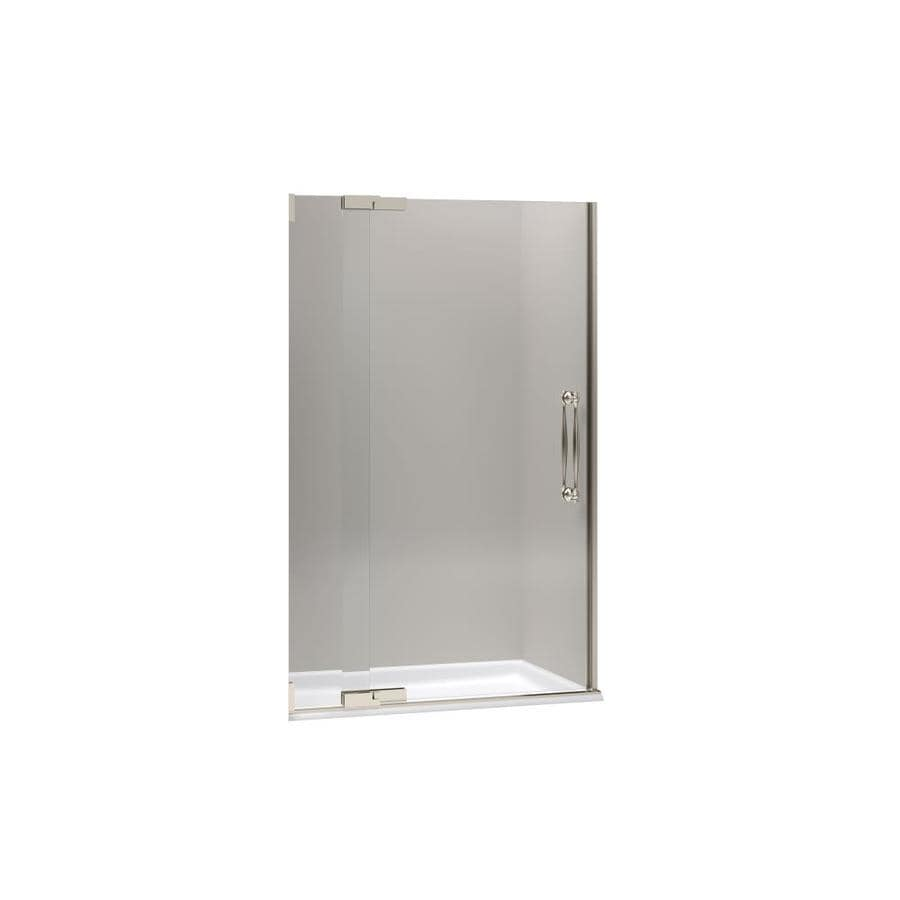 KOHLER Finial 45.25-in to 47.75-in Frameless Pivot Shower Door