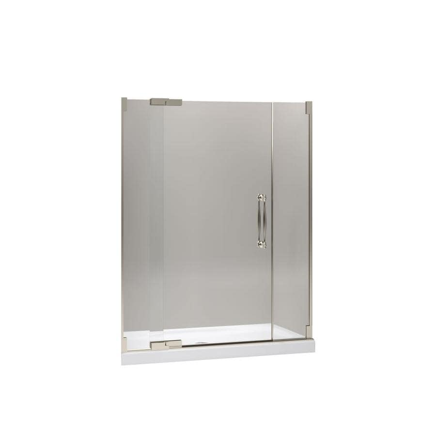 KOHLER Finial 57.25-in to 59.75-in Frameless Pivot Shower Door