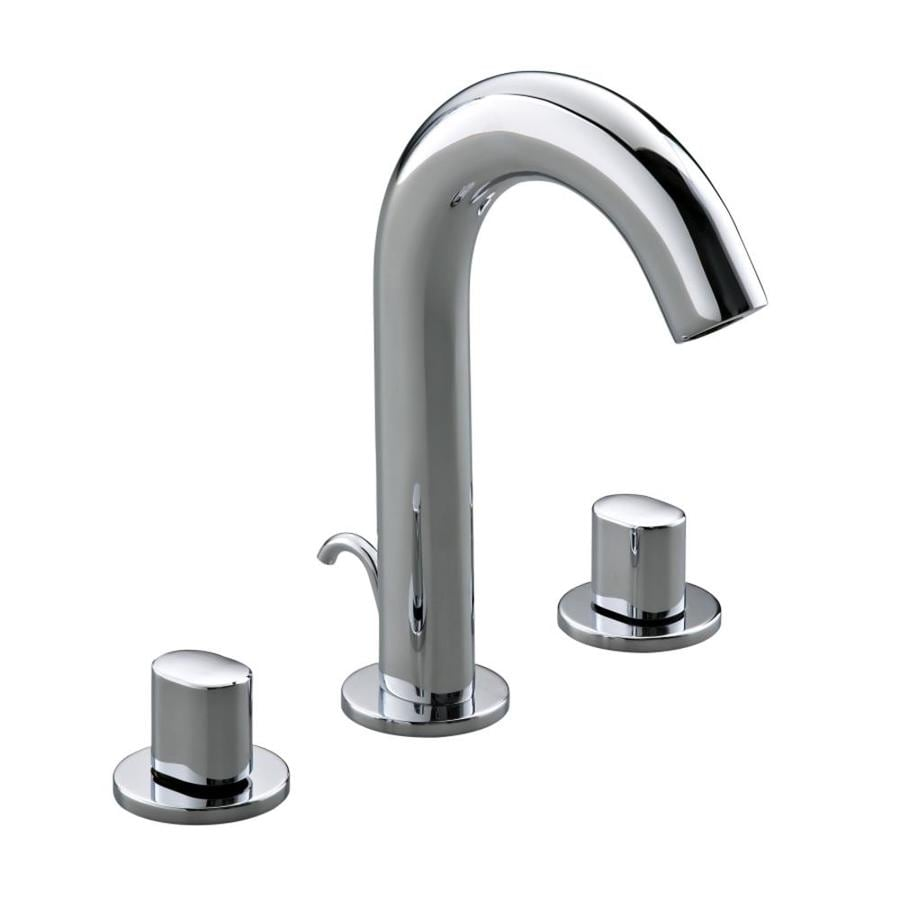 polished chrome 2 handle widespread bathroom faucet drain included
