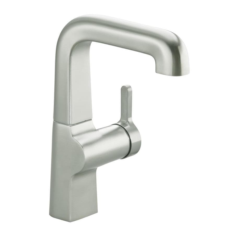 KOHLER Evoke Vibrant Stainless 1-Handle High-Arc Kitchen Faucet