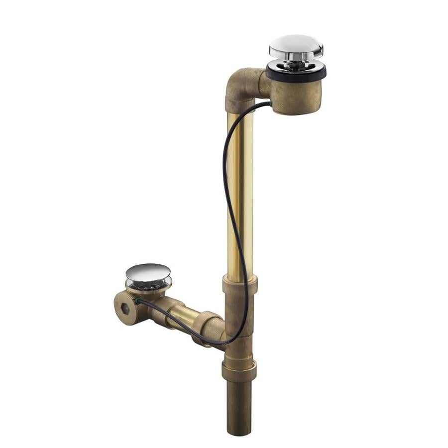 KOHLER 1-1/2-in Vibrant Polished Nickel Cable Drive with Brass Pipe