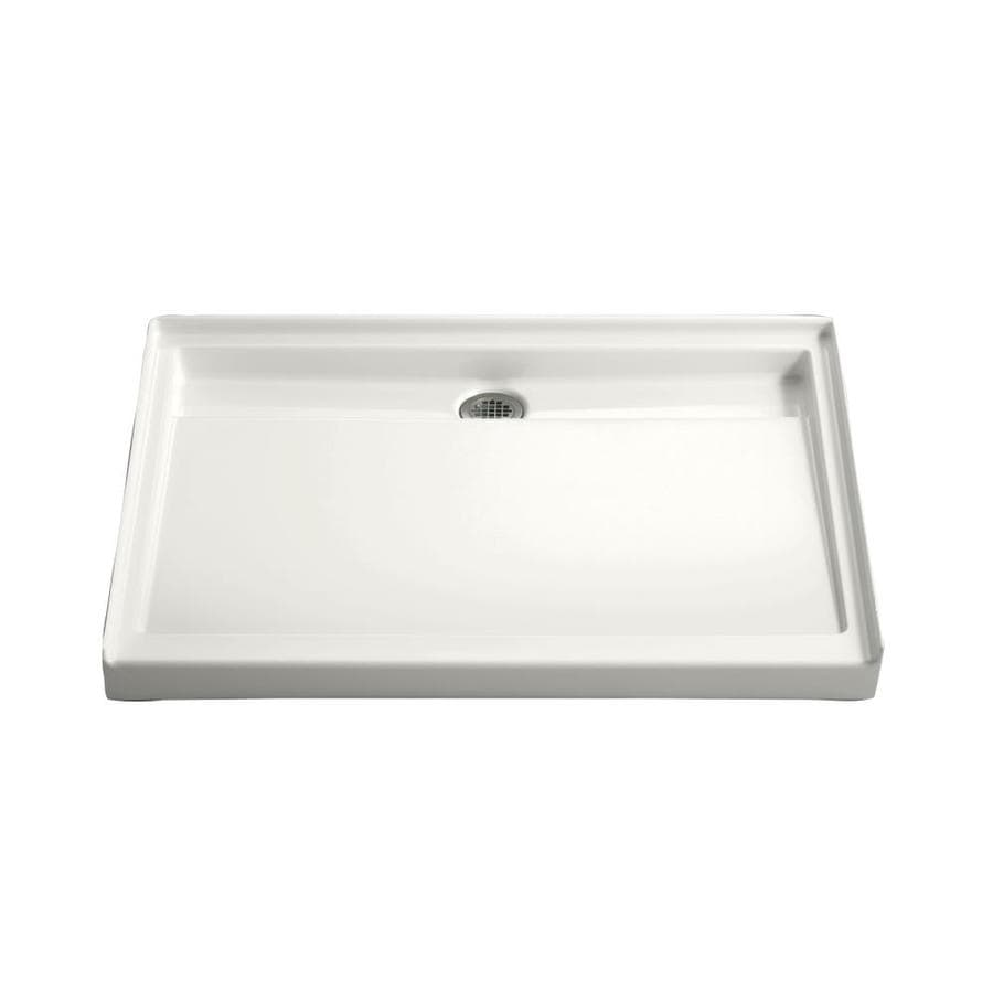 Shop Kohler Groove White Acrylic Shower Base Common 36