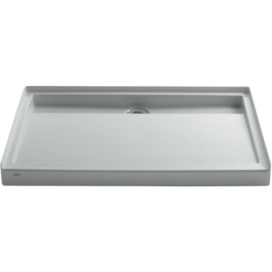 KOHLER Groove Ice Grey Acrylic Shower Base (Common: 36-in W x 48-in L; Actual: 36-in W x 48-in L)