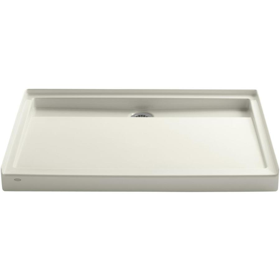 KOHLER Groove Biscuit Acrylic Shower Base (Common: 36-in W x 48-in L; Actual: 36-in W x 48-in L)