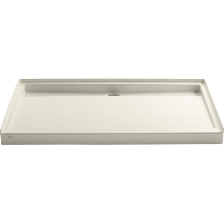 KOHLER Groove Almond Acrylic Shower Base (Common: 36-in W x 60-in L; Actual: 36-in W x 60-in L)