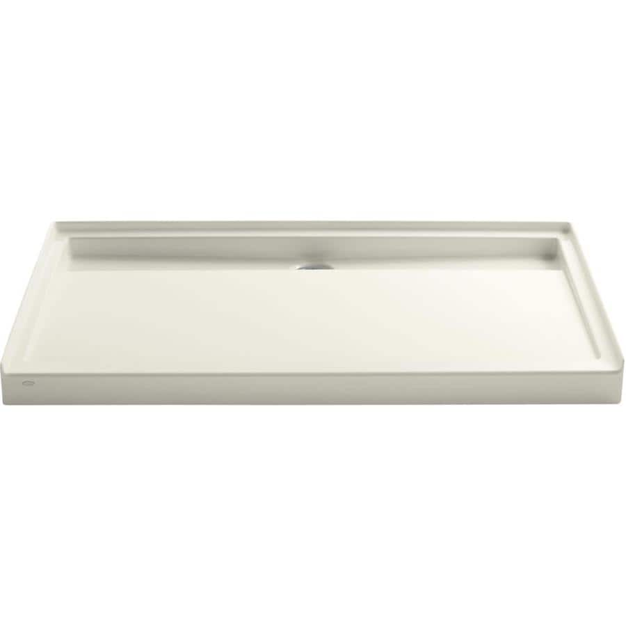 KOHLER Groove Biscuit Acrylic Shower Base (Common: 36-in W x 60-in L; Actual: 36-in W x 60-in L)