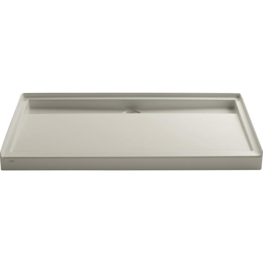 KOHLER Groove Sandbar Acrylic Shower Base (Common: 36-in W x 60-in L; Actual: 36-in W x 60-in L)