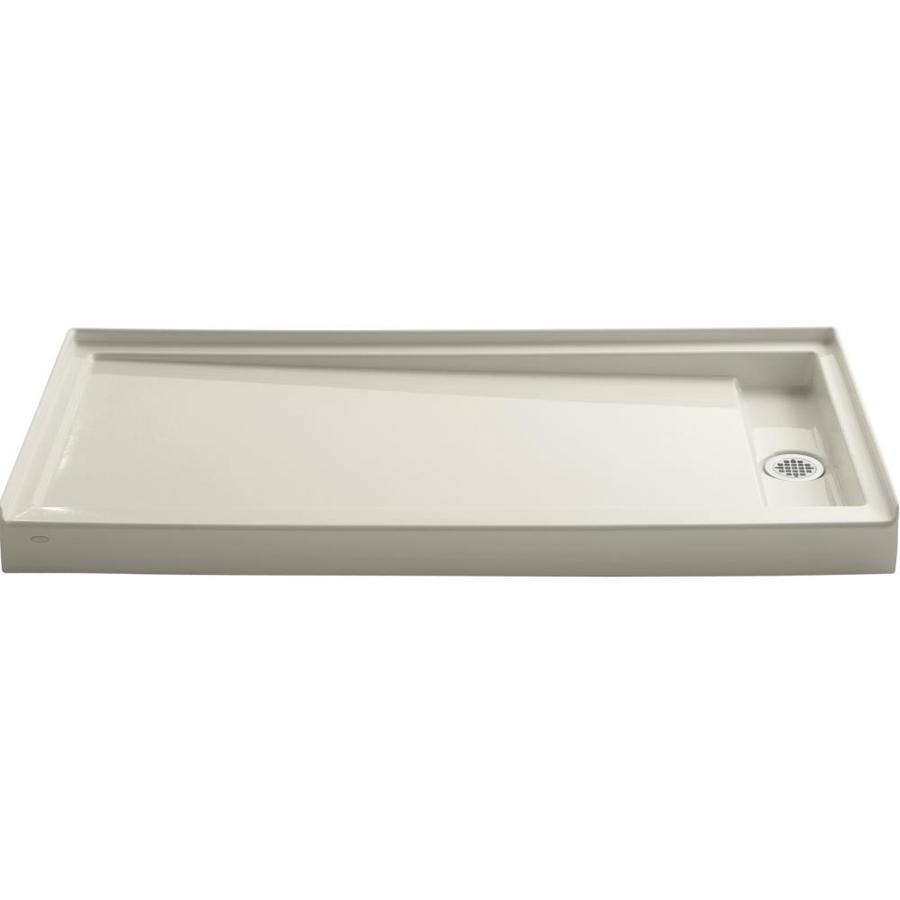 KOHLER Groove Almond Acrylic Shower Base (Common: 32-in W x 60-in L; Actual: 32-in W x 60-in L)