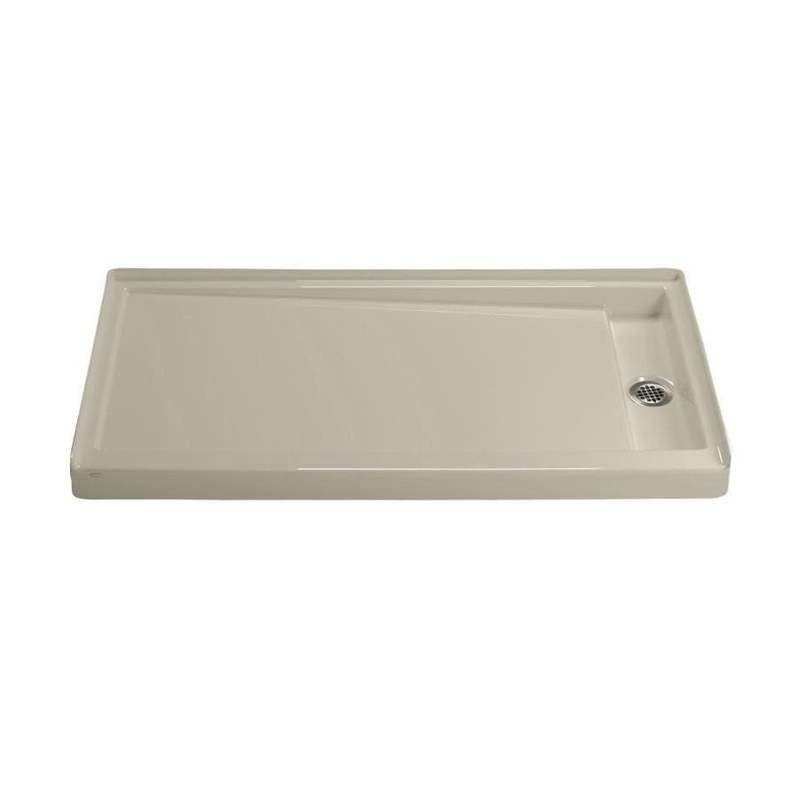KOHLER Groove Sandbar Acrylic Shower Base (Common: 32-in W x 60-in L; Actual: 32-in W x 60-in L)