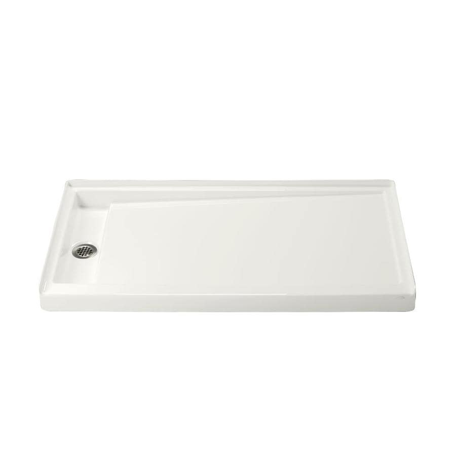 KOHLER Groove White Acrylic Shower Base (Common: 32-in W x 60-in L; Actual: 32-in W x 60-in L)