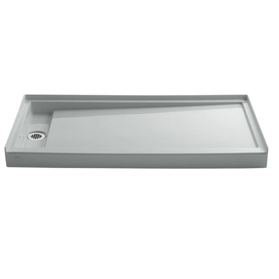 KOHLER Groove Ice Grey Acrylic Shower Base (Common: 32-in W x 60-in L; Actual: 32-in W x 60-in L)