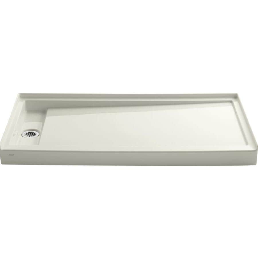 KOHLER Groove Biscuit Acrylic Shower Base (Common: 32-in W x 60-in L; Actual: 32-in W x 60-in L)