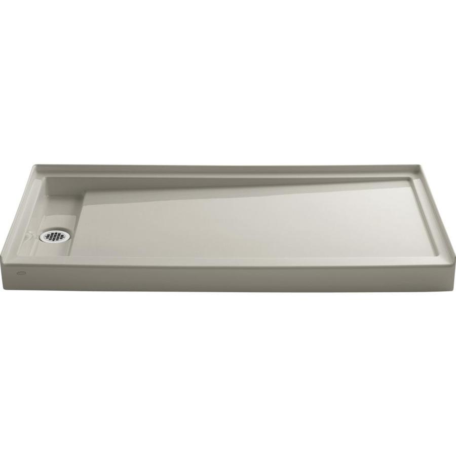 KOHLER Groove Sandbar Acrylic Shower Base (Common: 32-in W x 60-in L; Actual: 32-in W x 60-in L)