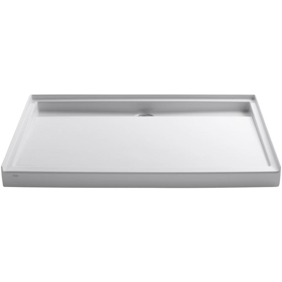 KOHLER Groove White Acrylic Shower Base (Common: 42-in W x 60-in L; Actual: 42-in W x 60-in L)