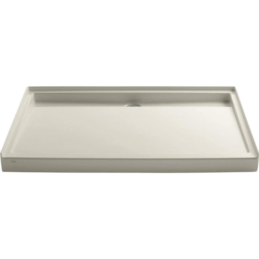 KOHLER Groove Almond Acrylic Shower Base (Common: 42-in W x 60-in L; Actual: 42-in W x 60-in L)