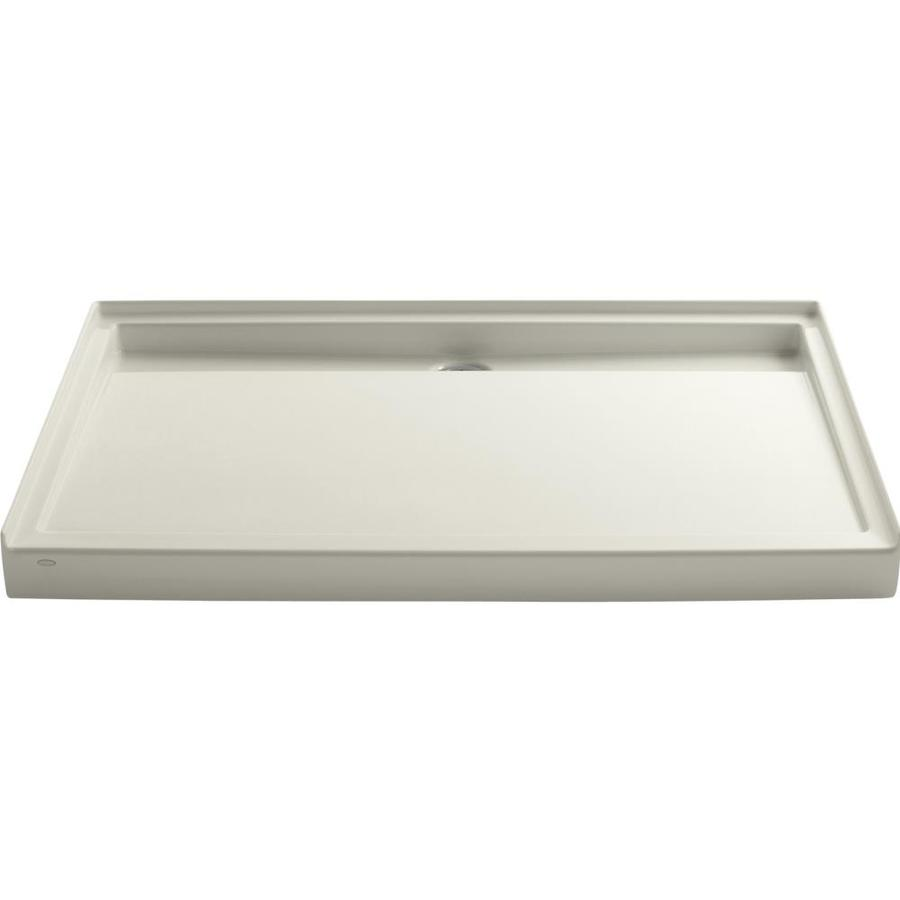 KOHLER Groove Biscuit Acrylic Shower Base (Common: 42-in W x 60-in L; Actual: 42-in W x 60-in L)