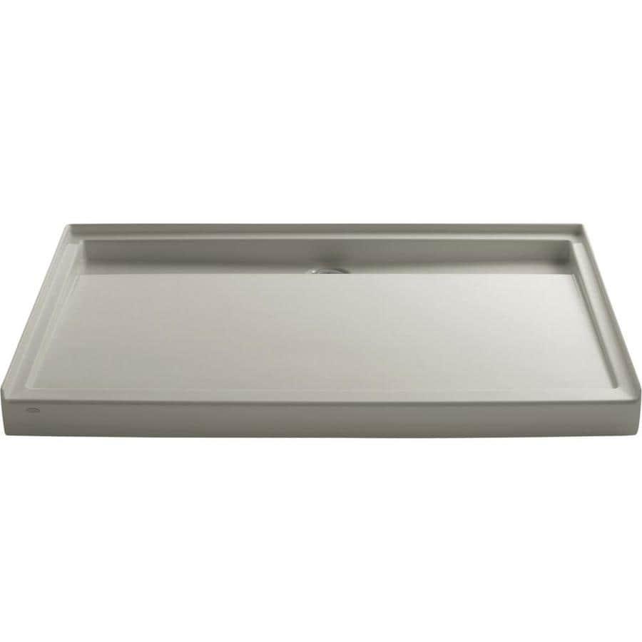 KOHLER Groove Sandbar Acrylic Shower Base (Common: 42-in W x 60-in L; Actual: 42-in W x 60-in L)