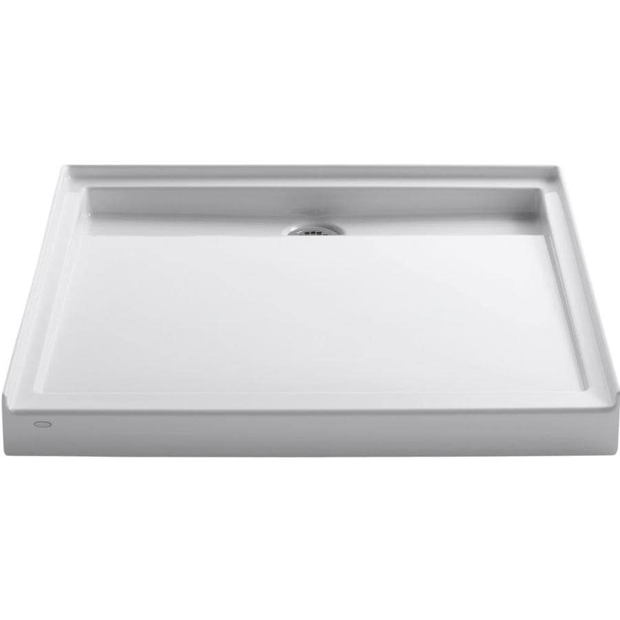 KOHLER Groove White Acrylic Shower Base (Common: 42-in W x 42-in L; Actual: 42.0000-in W x 42.0000-in L)