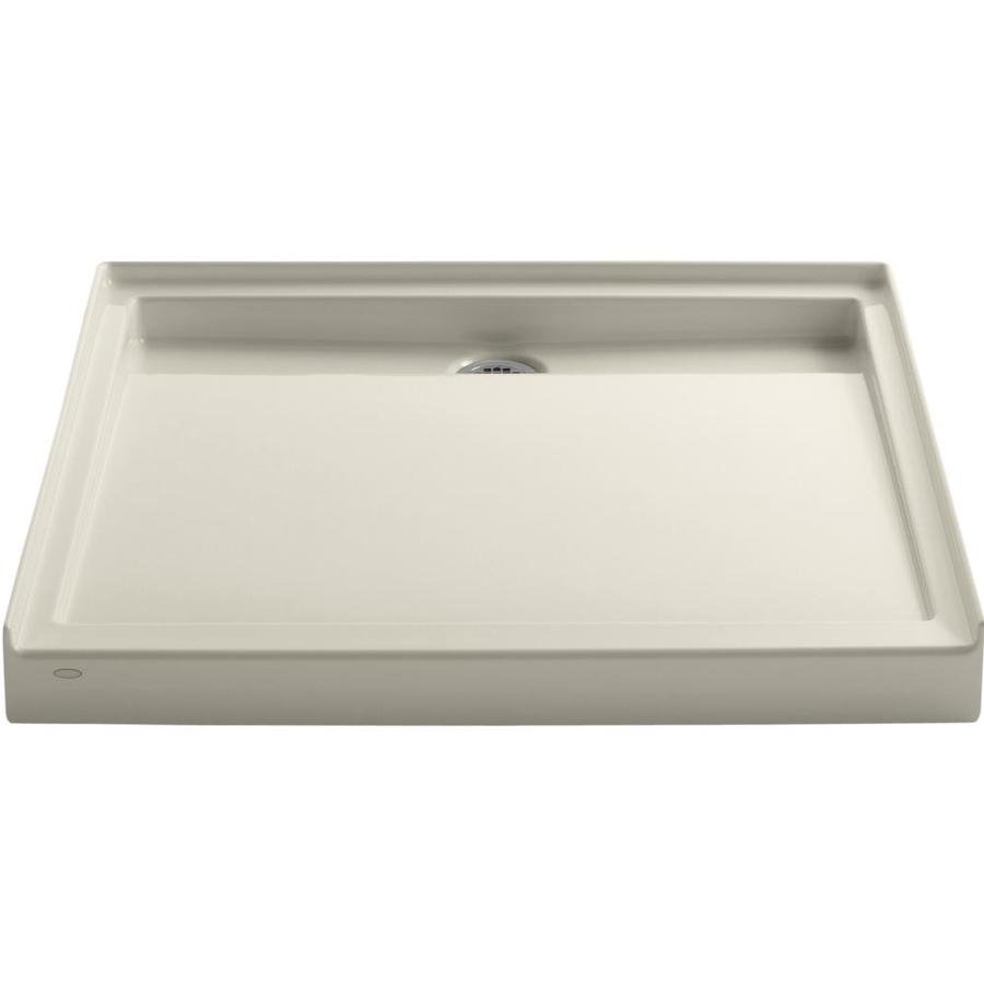 KOHLER Groove Almond Acrylic Shower Base (Common: 42-in W x 42-in L; Actual: 42-in W x 42-in L)