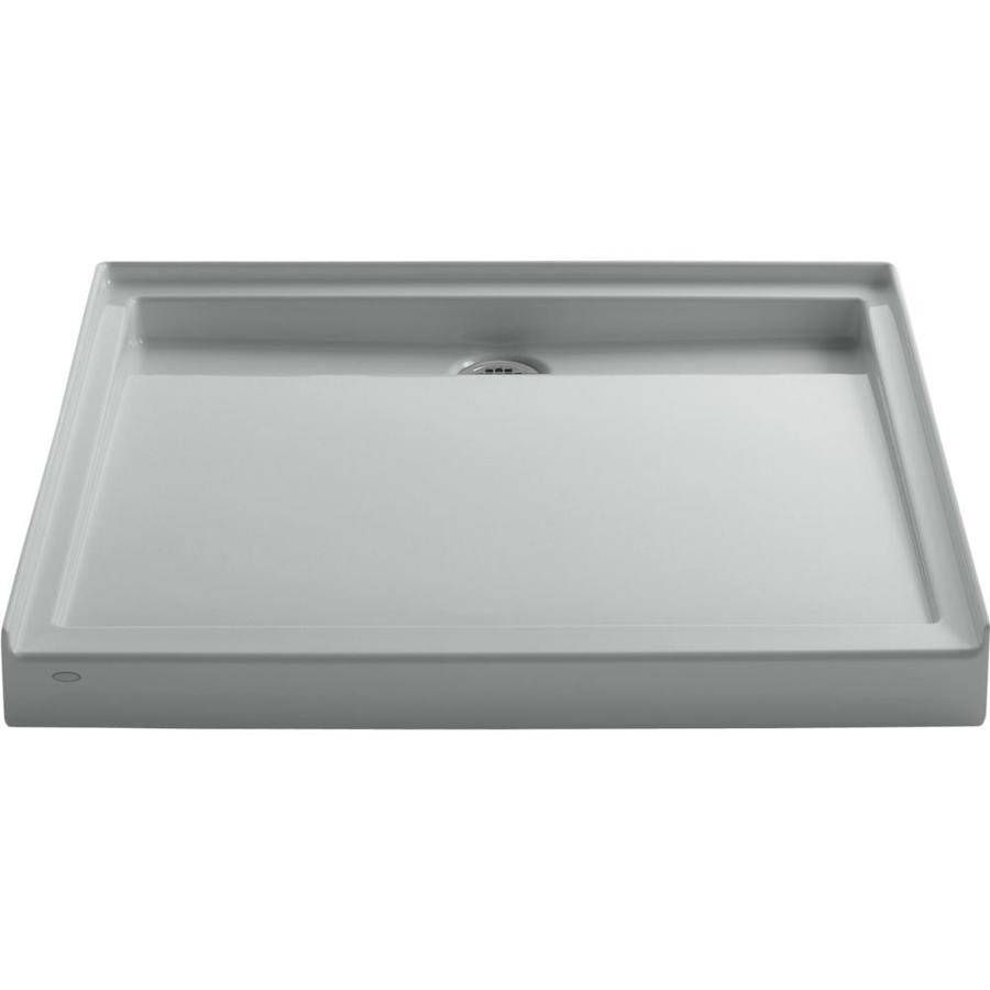KOHLER Groove Ice Grey Acrylic Shower Base (Common: 42-in W x 42-in L; Actual: 42-in W x 42-in L)