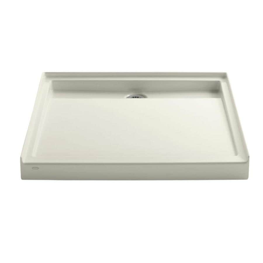 KOHLER Groove Biscuit Acrylic Shower Base (Common: 42-in W x 42-in L; Actual: 42-in W x 42-in L)