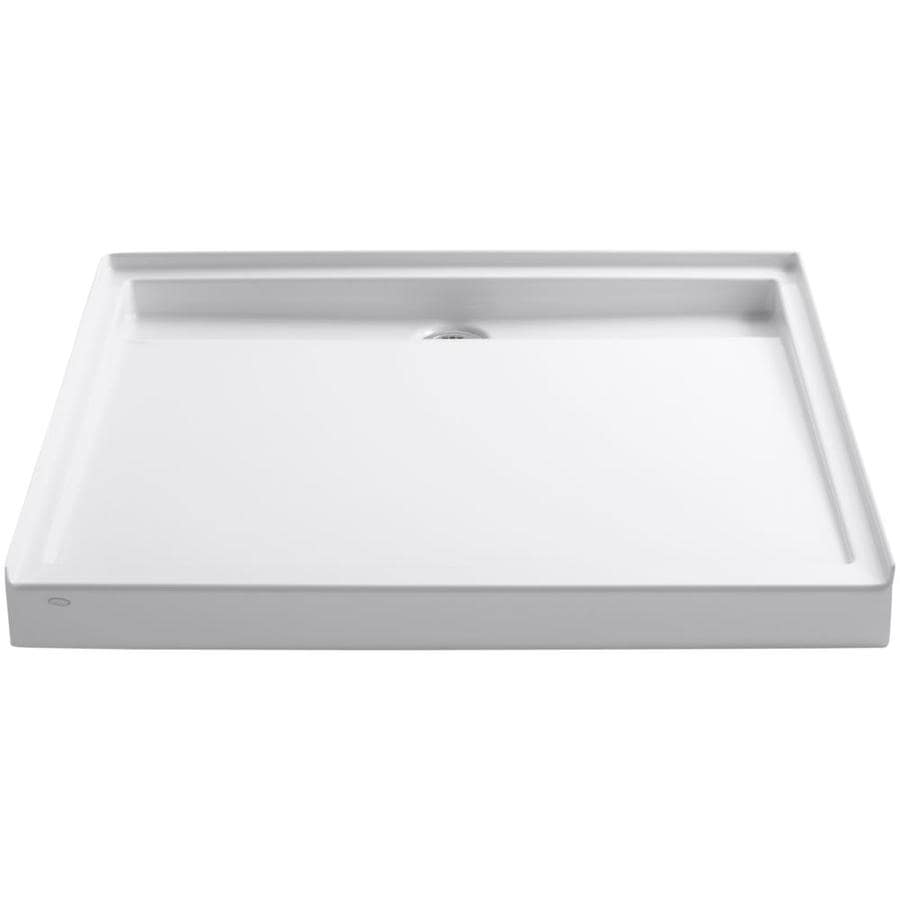 KOHLER Groove White Acrylic Shower Base (Common: 48-in W x 48-in L; Actual: 48-in W x 48-in L)