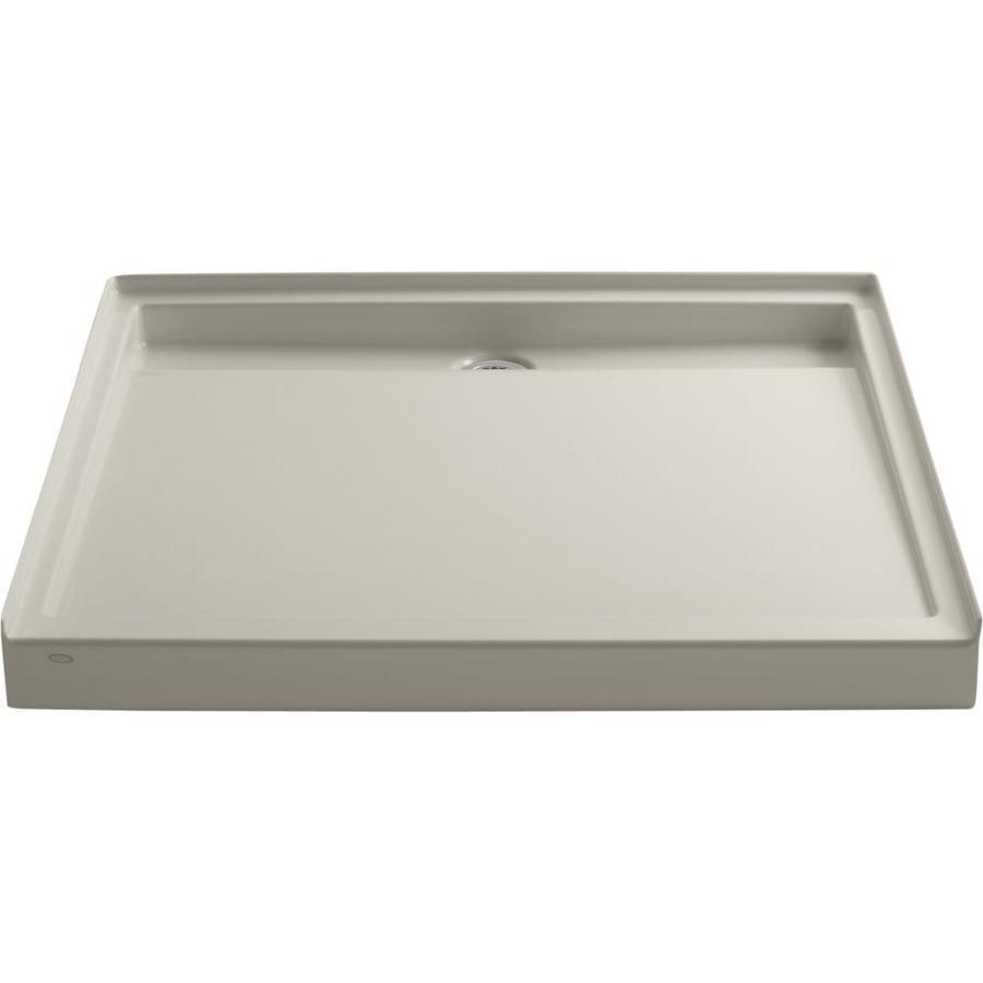 KOHLER Groove Sandbar Acrylic Shower Base (Common: 48-in W x 48-in L; Actual: 48-in W x 48-in L)
