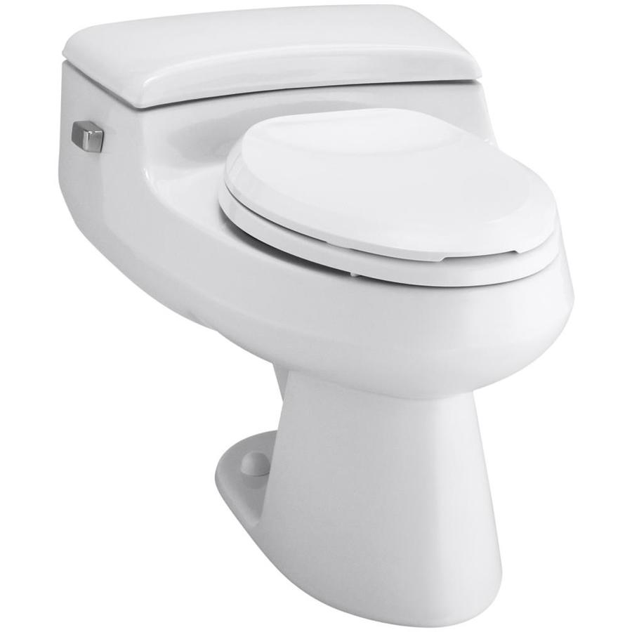 KOHLER San Raphael 1-GPF (3.79-LPF) White Elongated Chair Height 1-piece Toilet