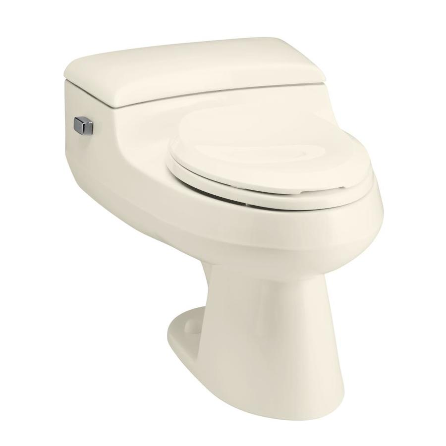 KOHLER San Raphael 1.0-GPF (3.79-LPF) Almond WaterSense Elongated Chair Height 1-Piece Toilet