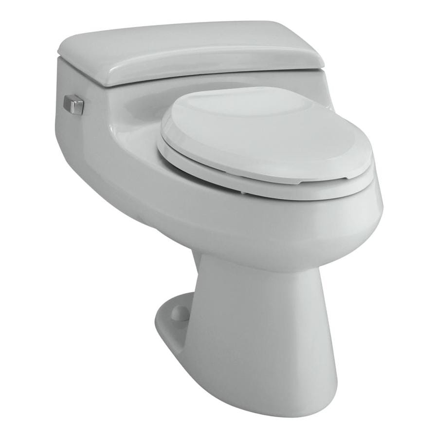 KOHLER San Raphael 1.0-GPF (3.79-LPF) Ice Grey WaterSense Elongated Chair Height 1-Piece Toilet