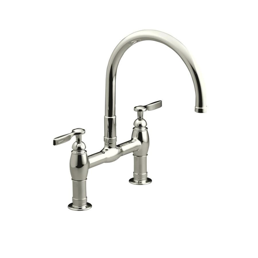Shop Kohler Parq Vibrant Polished Nickel 2 Handle Deck Mount High