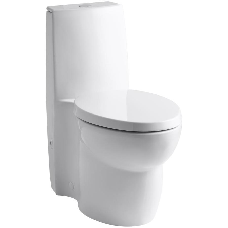 KOHLER Saile White WaterSense Labeled Dual Elongated Standard Height 1-piece Toilet 12-in Rough-In Size