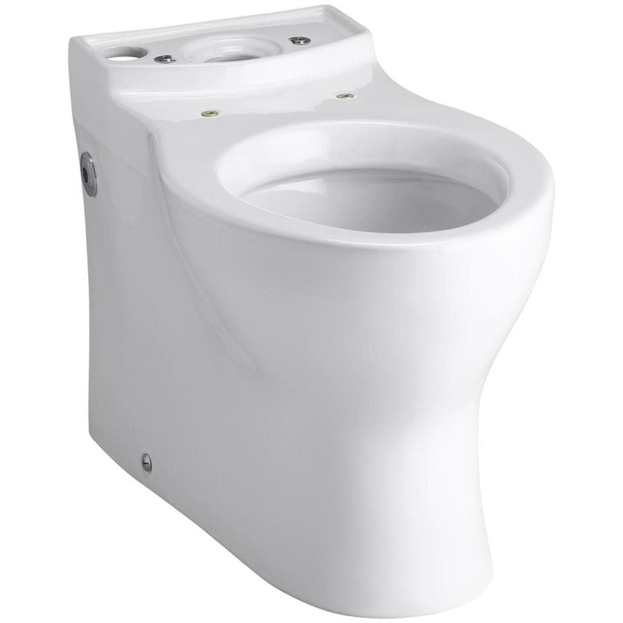 KOHLER Persuade Standard Height White 12-in Rough-In Elongated Toilet Bowl