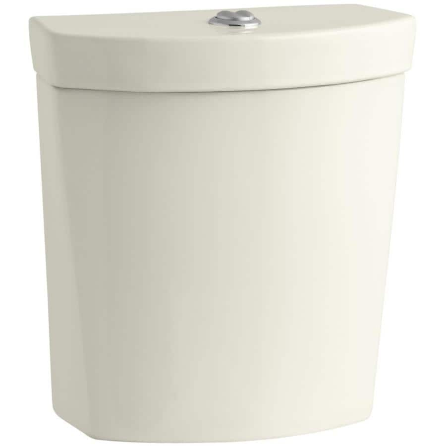 KOHLER Persuade Biscuit 1.6-GPF 12-in Rough-In Dual-Flush High-Efficiency Toilet Tank