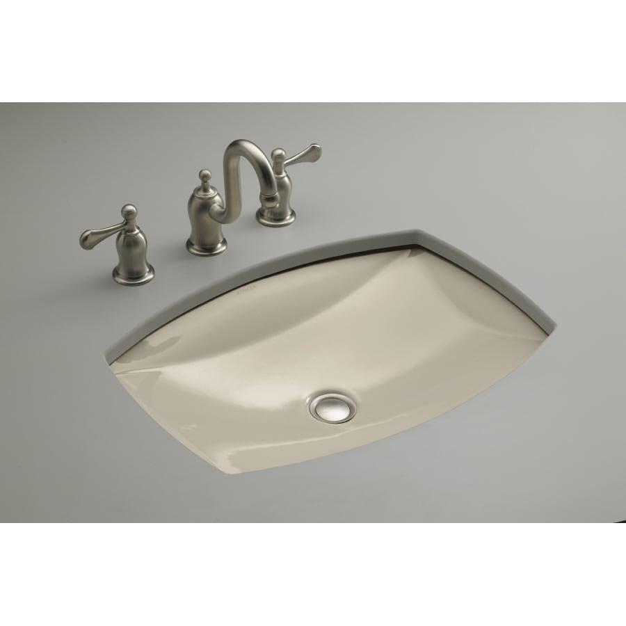 Shop KOHLER Kelston Sandbar Undermount Rectangular Bathroom Sink with ...