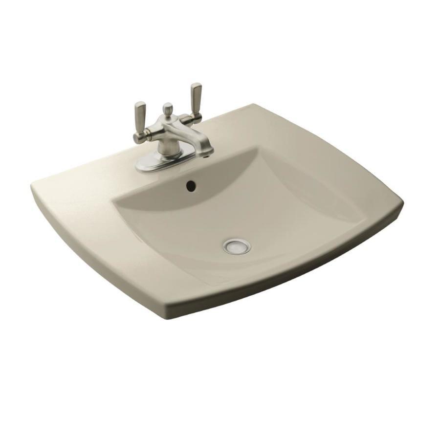 KOHLER Kelston Sandbar Drop-in Rectangular Bathroom Sink with Overflow
